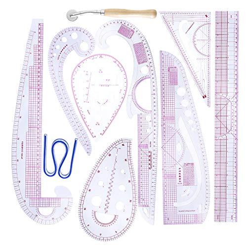 IPOTCH 裁縫定規 フレキシブル曲線 メトリックルーラー 曲線定規 高精度 ステッチルレット 縫製 裁縫 道具