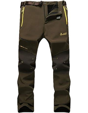 f70c34168190d5 Abelway Men's Outdoor Mountain Waterproof Windbreaker Fleece Ski Snow Pants  Sportwear Rain Hiking Camping Fishing Hunting