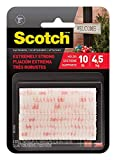 Scotch(R) All-Weather Fasteners Y1ZNF, 2 Sets of 1 inch x 3 inches, Strips, Clear, 2-Pack