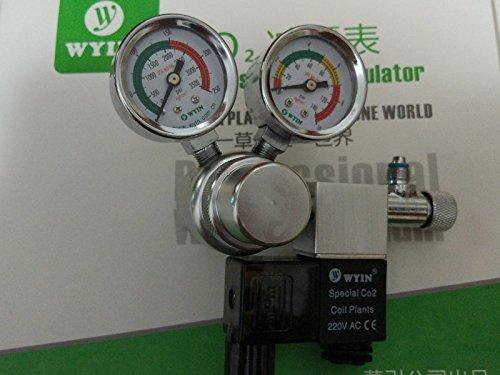 wyin Aquarium CO2 Regulator, plants! Solenoid Check Valve, Speed control Valve, bubble counters W01-00 (cga320)