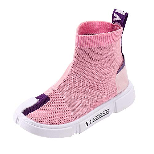 AgrinTol Kids Toddler Infant Baby Boys Girls Mesh Letter Ankle Boots Sport Shoes Sneaker Pink