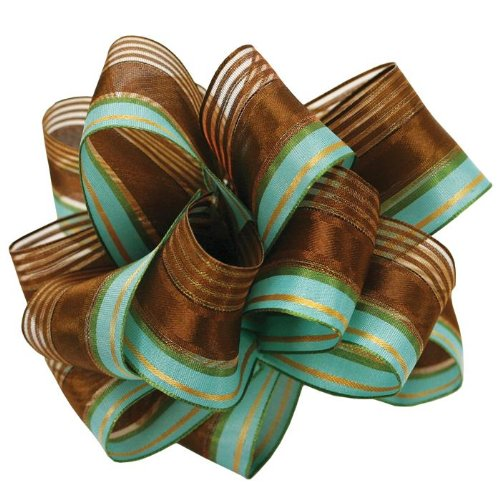 Berwick Wired Edge Springs Craft Ribbon, 1-1/2-Inch Wide by 50-Yard Spool, Chocolate