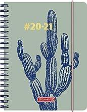BRUNNEN 1071850021 Wochenkalender/Schülerkalender #Harmony, Cactus: 2 Seiten = 1 Woche, A6, PP-Einband