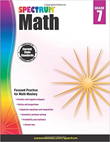 Spectrum Math Workbook, Grade 7: Spectrum: 0044222238582: Amazon ...