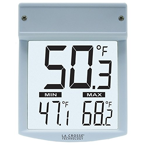 Digital Window Thermometer - La Crosse Technology Wt-62U-Tbp Digital Window Thermometer