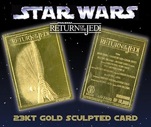 Limited Edition: Star Wars Return of the Jedi Movie Poster 23k Gold Foil Trading Card