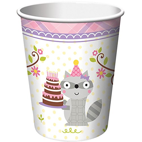 Creative Converting 8 Count Paper Cups, Happi Woodland (Colored Styrofoam Plates)