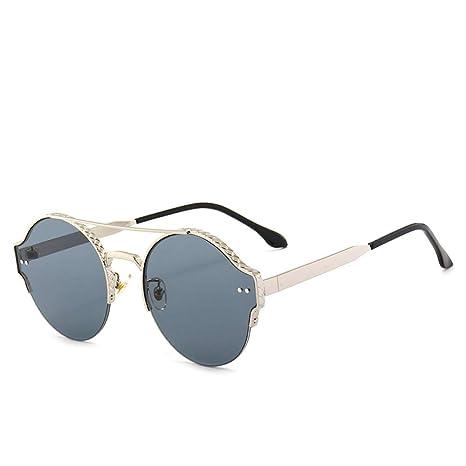 Yangjing-hl Gafas de Sol con Montura Redonda Gafas medidoras ...