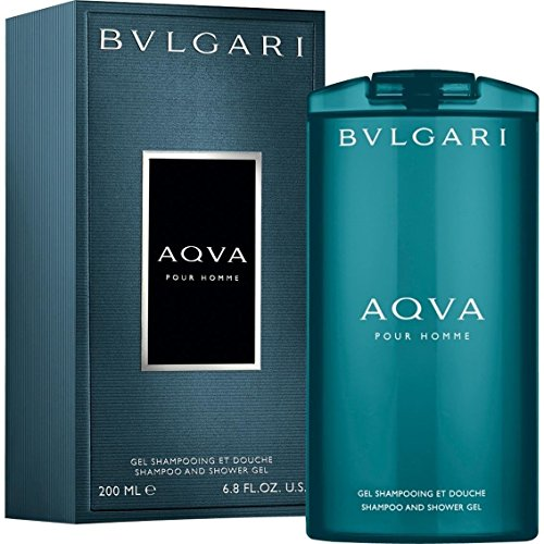 - Bvlgari Aqva Shampoo & Shower Gel for Men, 6.8 Ounce