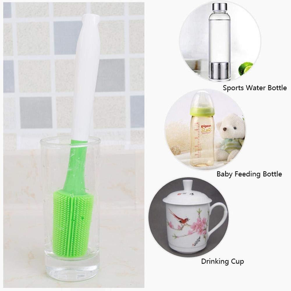 Cepillo de Botella, Cepillo de Taza de Vidrio Ideal para Limpiar biberones, termos, jarrones y Vasos: Amazon.es: Hogar