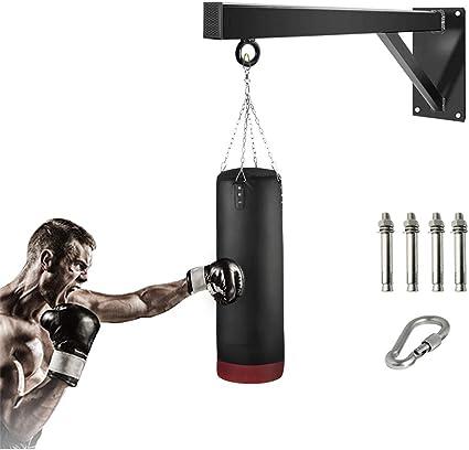 "Heavy Duty 18"" Boxing Punch Bag Wall Bracket Steel Chain Mount Hanging HooK"