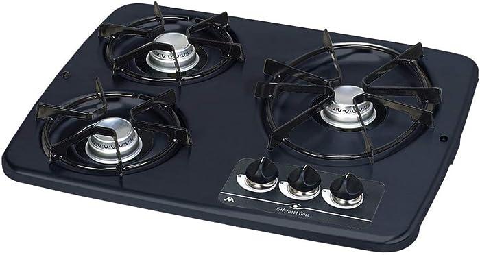 Atwood (56471 Black 3 Burner Drop-in Cooktop