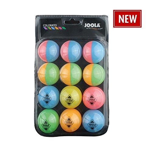Joola Tischtennis Ballset Colorato mit 12 Bunten Bällen Tischtennisbälle JOOA5|#JOOLA 42150