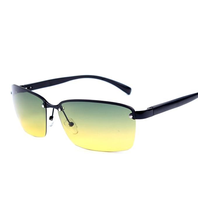 Gafas de sol polarizadas/Visión nocturna/Lente óptico de día y de noche/Reflejos controlador gafas-B: Amazon.es: Ropa y accesorios