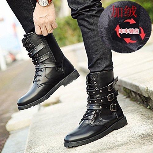 shoes tube Martin plus nbsp; men's Black cashmere casual nbsp;Spring boots Autumn GUNAINDMX tall 832 and w4A0Xvwq