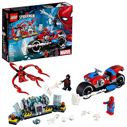 LEGO Marvel Spider-Man: Spider-Man Bike Rescue 76113 Building Kit (235 Pieces) (Lego Minifigure Kid Flash)