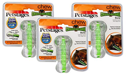 Petstages 3 Pack of CrunchCore, Medium, Durable Crinkling Chew Toy for Dogs