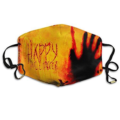 N7bloom Girls Face Mask Happy Halloween Blood Handprint.jpg