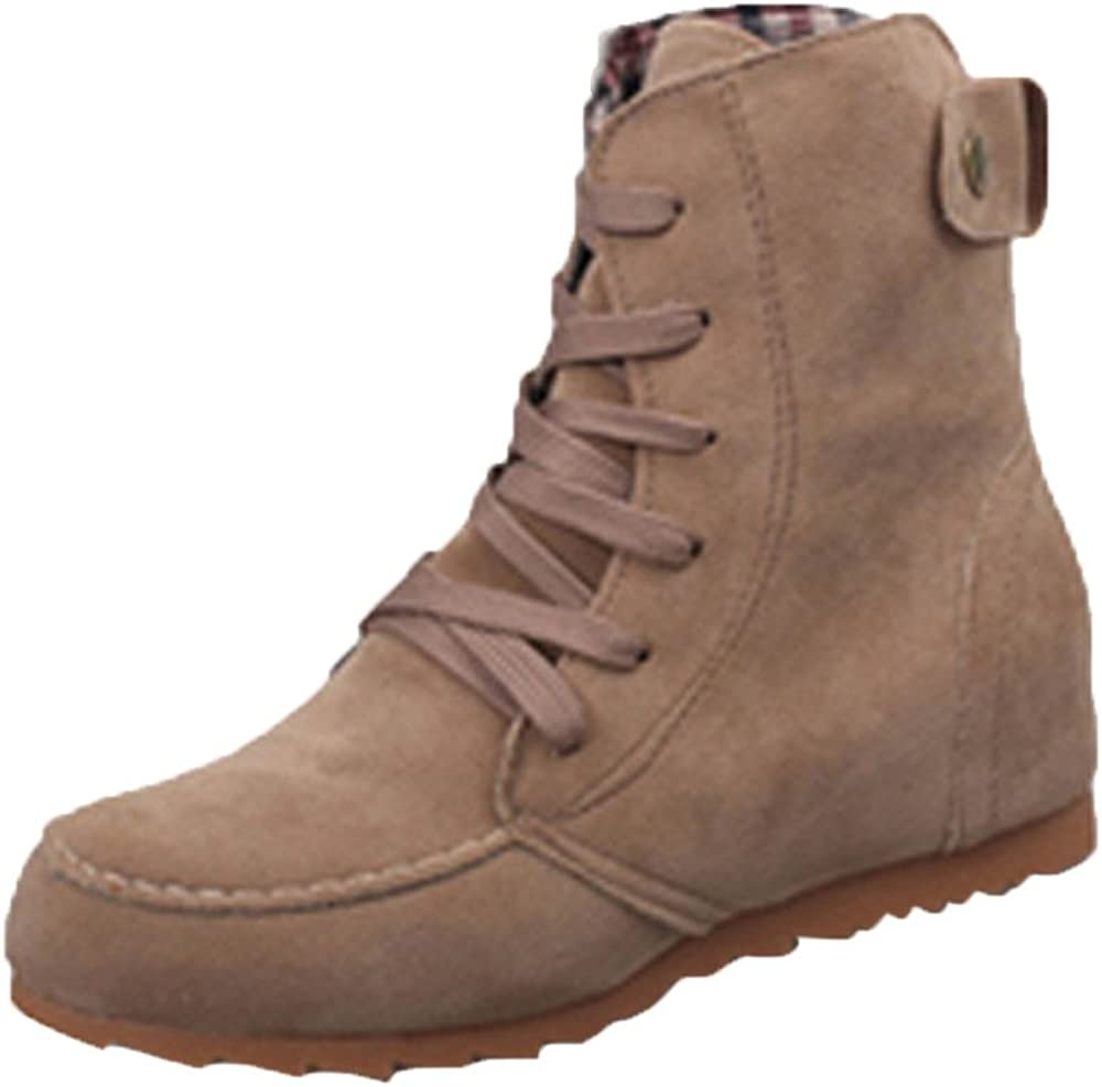 Emerayo Womens Boots Womens Solid Color