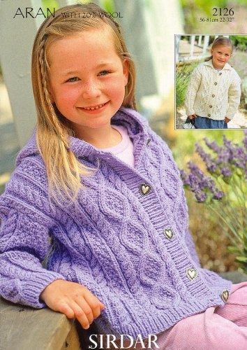Sirdar Bonus Aran Childrens Knitting Pattern 2126 By Sirdar Amazon