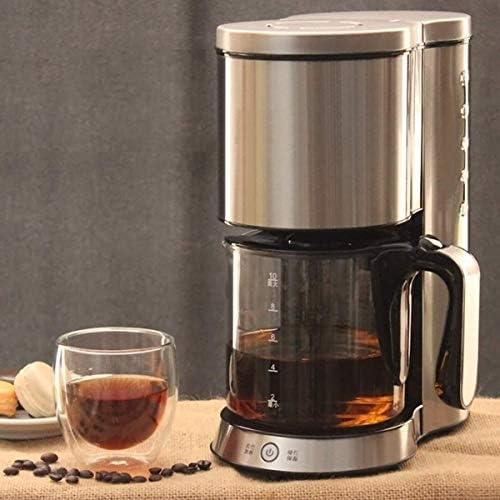 Filtre machine à café, une machine à café goutte à goutte inox amovible en acier avec verseuse en verre 1.25L Moulin à café filtre