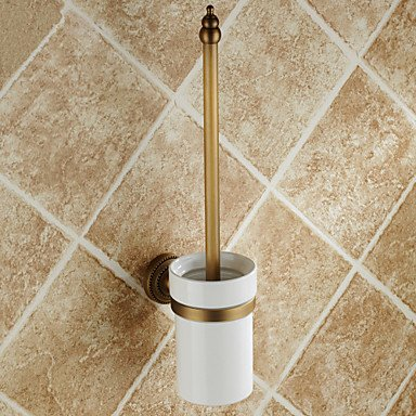 XY&XH Toilet Brush Holder , Antique Brass Wall Mounted Toilet Brush Holder by XY&XH
