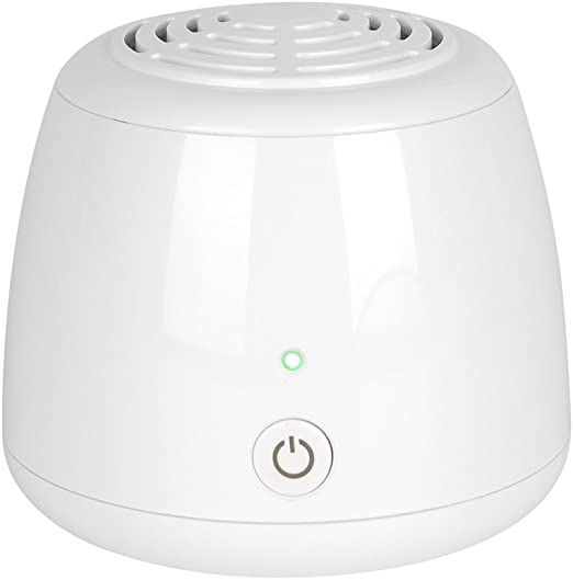 Mini purificador de aire, ZITFRI ionizador ozonizador de aire casero generador de ozono elimina olores bacterias humos impurezas para refrigerador armario coche ...
