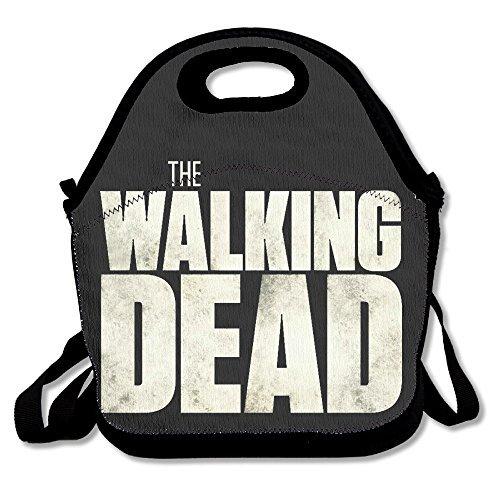Black The Walking Dead Unisex Grocery Bags For Woman Man Kid