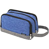 Kids Wash Bag, Yeiotsy Color Clash Portable Travel Toiletry Bag for Children's Camping Outing Short Trip (Blue)
