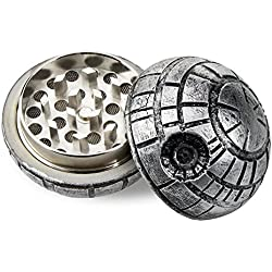 Formax420 Death Star Grinder Star War Round Grinder 3 Pieces Spice Mill 1.9 inch