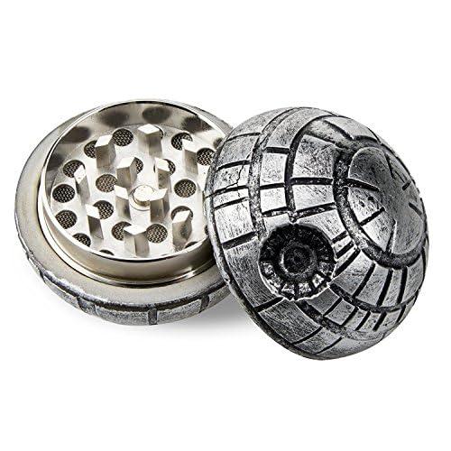 Formax420 Death Star Grinder Star War Round Grinder 3 Pieces Spice Mill 1.9 inch