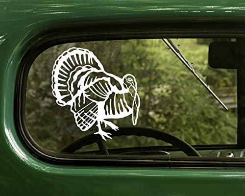 Talkin Turkey Tom truck sticker WHITE Vinyl Decal