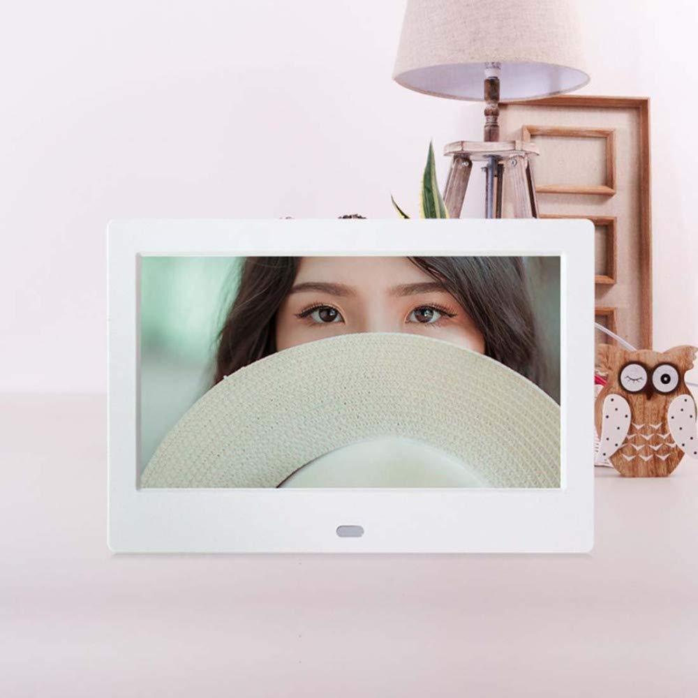 FLYWM Marco de Foto Foto electrónicos multifunción de 7 Pulgadas álbum Regalo portaretrato Digital máquina de Publicidad de Video: Amazon.es: Hogar