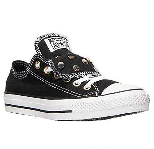 Converse Chuck Taylor All Star Unisex Black Double Tongue with Black and Gold Stud Detail 547218F (Men's 6/ Women's 8) (Converse Black With Studs)