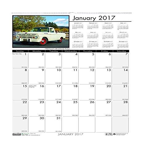 Doolittle Classic Wall Calendar - House of Doolittle 2017 Monthly Wall Calendar, Classic Cars, 12