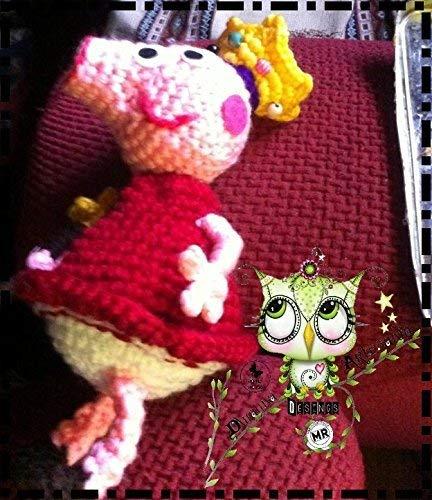 JORGE Y PEPPA PIG AMIGURUMI PERSONALIZABLE (Bebé, crochet, ganchillo, muñeco, peluche