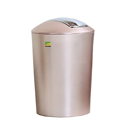 MINGLI Plastic Rocking Bin Trash Home Living Room Bedroom Toilet Kitchen  Waste Basket 6.5L (Color : B)