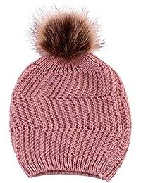 022ce5a8374 Baby Winter Warm Knit Hat Infant Toddler Kid Crochet Pom Pom Ball Beanie Cap  Unisex Hats