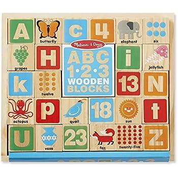 Melissa & Doug ABC/123 Wooden Blocks (26 pcs)
