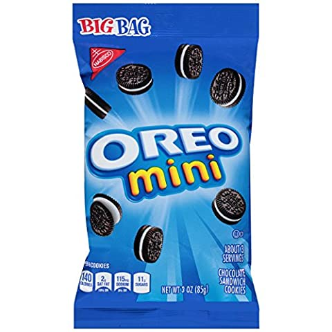 Oreo Mini Chocolate Bite Size Sandwich Cookies, 3-Ounce Bags (Pack of 12) (Bite Size Oreos)
