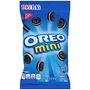 Oreo Mini Chocolate Bite Size Sandwich Cookies, 3-Ounce Bags (Pack of 12)