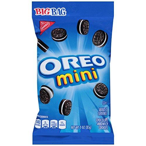 Oreo Mini Chocolate Sandwich Cookies  Big Bag 3 Ounce Pack of 12