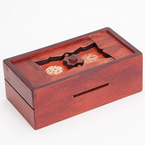 Bits-and-Pieces-Japanese-Secret-Puzzle-Box-Brainteaser-Wooden-Secret-Compartment-Brain-Game-for-Adults-Stash-Your-Cash-Away