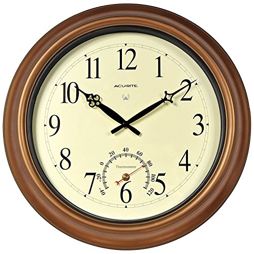 (Chaney Balmoral II Atomix Aged Copper 18 in. Wall Clock)
