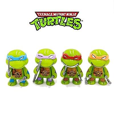 "YongEnShang Teenage Mutant Ninja Turtles Series 2 3"" Action Figure PVC Toys of 4pcs"