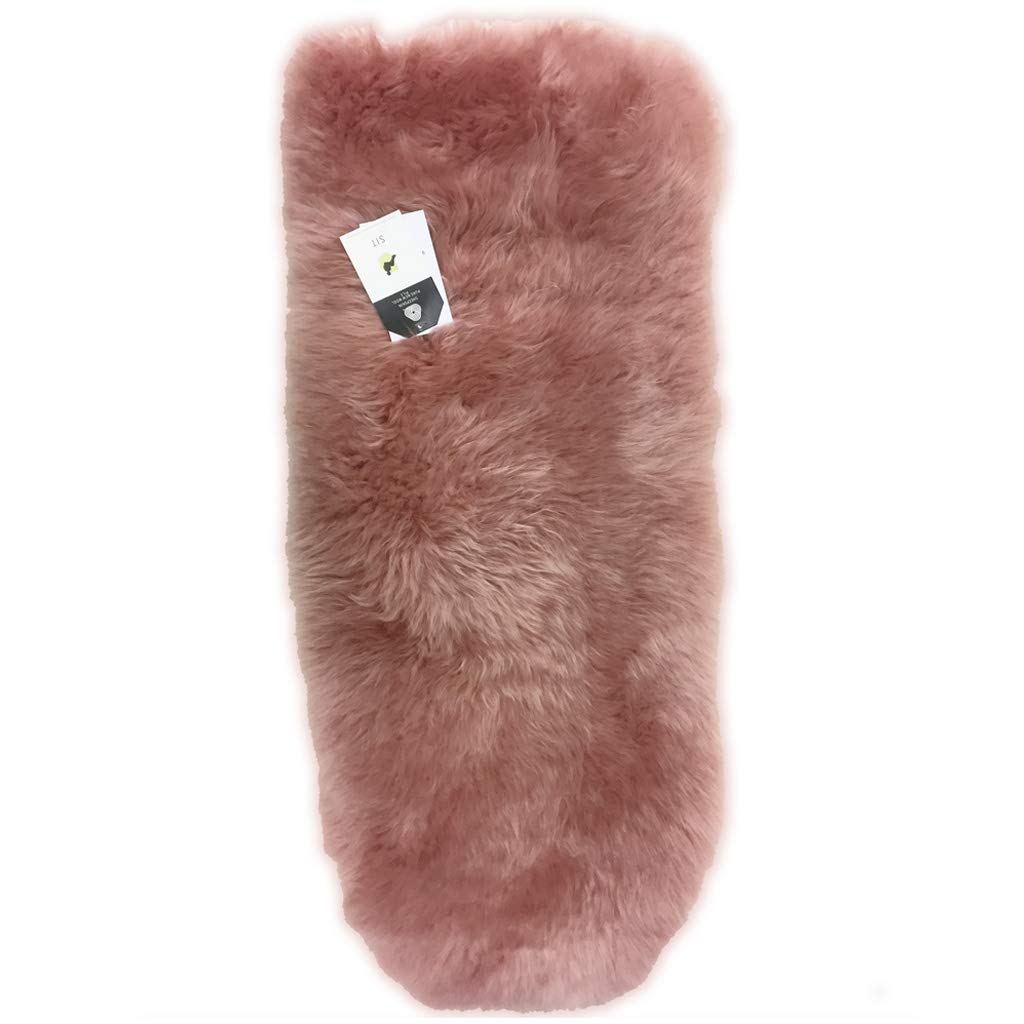 BOZZ 100% Genuine Universal Luxury Longwool Longhaired Sheepskin Pushchair/Stroller Liner with a Cotton Quilted Back - Blush B.O.Z.Z