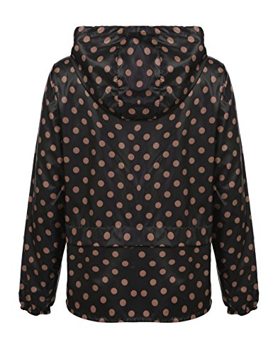 braun Deportiva Compresible Chubasquero Schwarz Impermeable Outdoor Con Mujer Punkten Para Chaqueta Meaneor Capucha cTZSPnaB