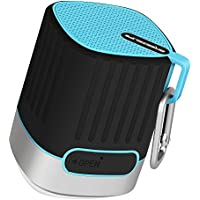 BREEZELIFE Portable Bluetooth Speaker4.2 Waterproof IPX4,SOS Alarm LED Camping Lights with 10 Hour Playtime,Rugged Shockproof Shower Speaker