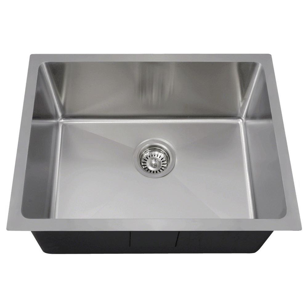 1823 18 Gauge Undermount Single Bowl 3/4 Inch Radius Stainless Steel  Kitchen Sink     Amazon.com