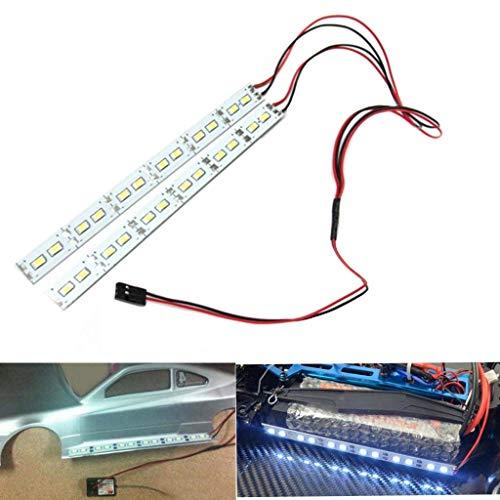 ShareGoo 24 leds Chassis Light Aluminum LED Strip 6V 1/10 1/8 RC Car Crawler Buggy,White